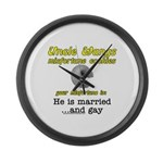 He is Married... And Gay Large Wall Clock