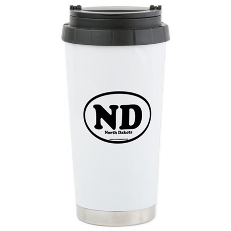 North Dakota Stainless Steel Travel Mug
