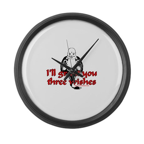 I'll Grant You Three Wishes Large Wall Clock