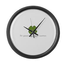 I'll Grant Ya Three Wishes Large Wall Clock