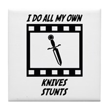 Knives Stunts Tile Coaster