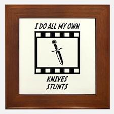 Knives Stunts Framed Tile
