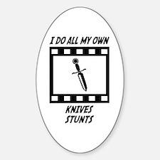 Knives Stunts Oval Sticker (10 pk)