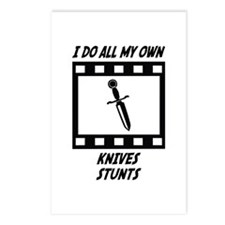 Knives Stunts Postcards (Package of 8)