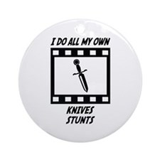 Knives Stunts Ornament (Round)