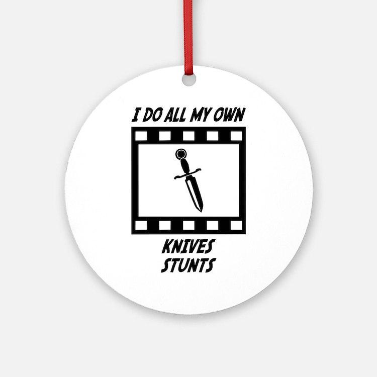 Knives Stunts Ornament (Round)