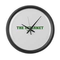 The Internet Green Large Wall Clock