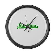 Dark Banking Softball Large Wall Clock
