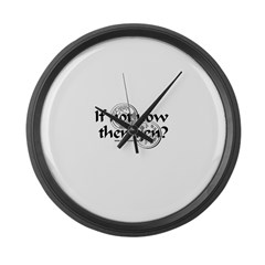 If Not Now Then Yen? Large Wall Clock