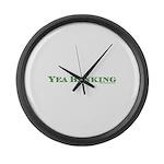 Yea Banking Large Wall Clock