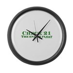Dark Check 21 The End Of Floa Large Wall Clock