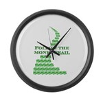 Follow The Money Trail Large Wall Clock
