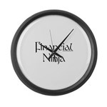 Financial Ninja Large Wall Clock
