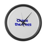 Chase The Fees Large Wall Clock