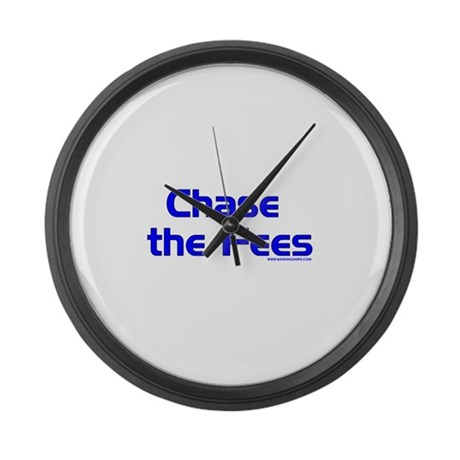 Dark Chase The Fees Large Wall Clock