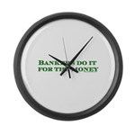 Dark Bankers Do It For The Mo Large Wall Clock