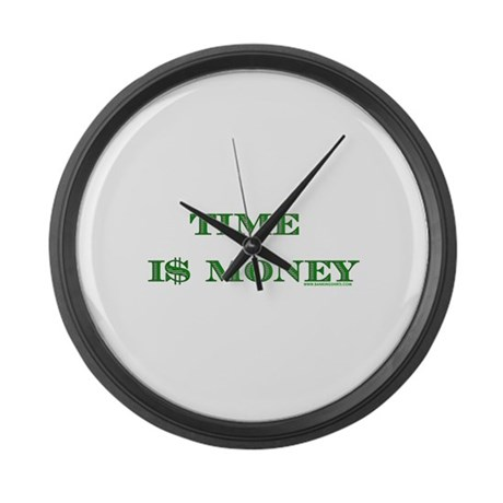 Time I$ Money Large Wall Clock