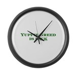 Yuppie Greed is Back Large Wall Clock