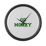 Go Money Large Wall Clock