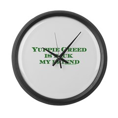 Black Yuppie Greed Is Back My Large Wall Clock