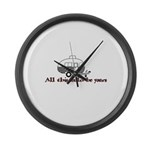 All This Could Be Yours Large Wall Clock