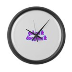 Get on it Doggone it Blossom Large Wall Clock