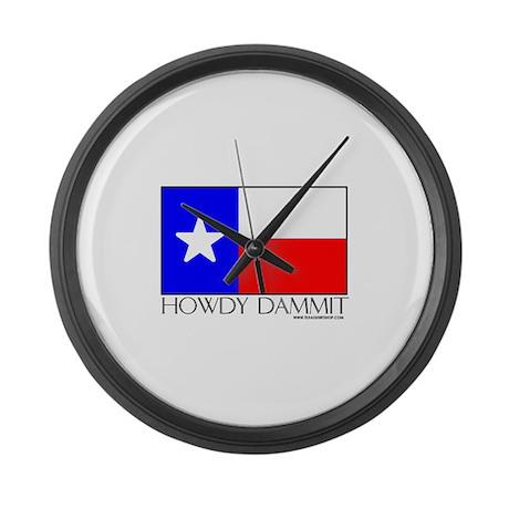 Howdy Dammit Large Wall Clock