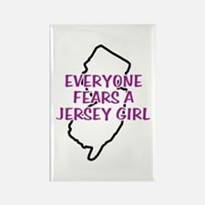 Everyone Fears a Jersey Girl Rectangle Magnet