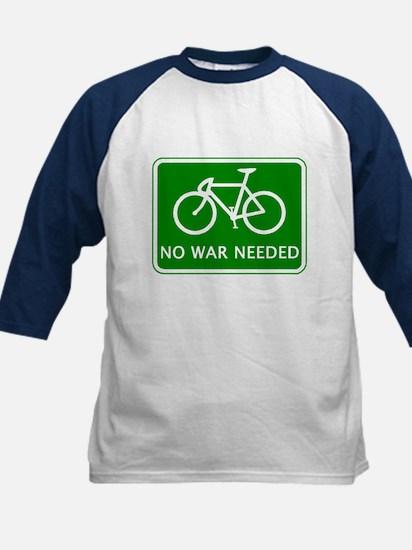 BICYCLE. No War Needed Kids Baseball Jersey