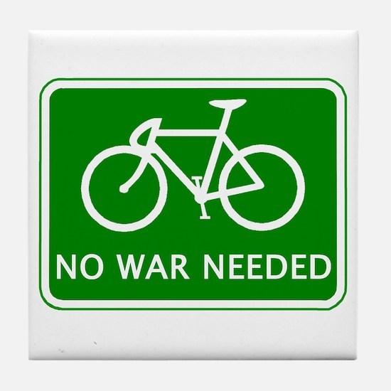 BICYCLE. No War Needed Tile Coaster