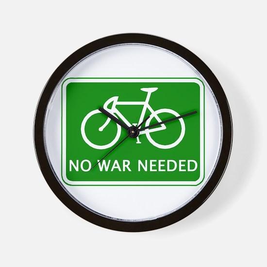 BICYCLE. No War Needed Wall Clock