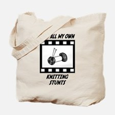 Knitting Stunts Tote Bag