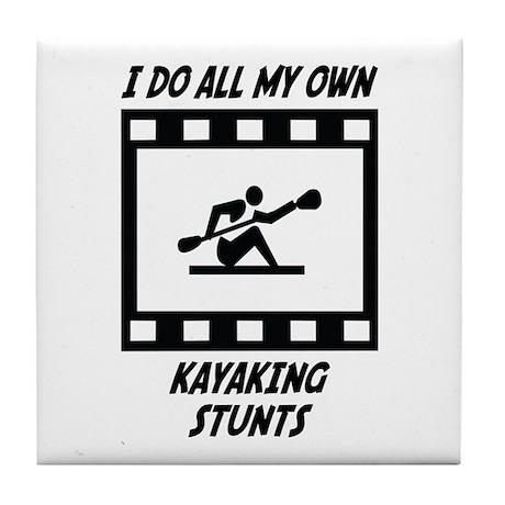 Kayaking Stunts Tile Coaster