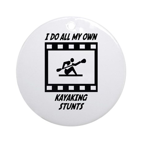 Kayaking Stunts Ornament (Round)
