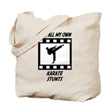 Karate Stunts Tote Bag
