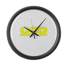 OCD Repetition Is Good Large Wall Clock