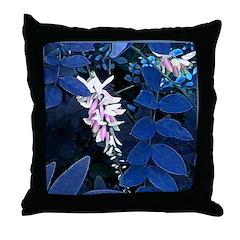 Indigo Plant Throw Pillow