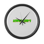 Asperger's Large Wall Clock