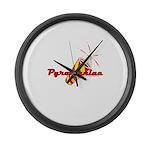 Pyromaniac Large Wall Clock