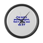 Psychologist On TV Large Wall Clock