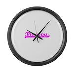 Softball Therapy Large Wall Clock