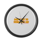 Don't Therapize Me Large Wall Clock