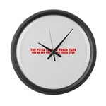 First Rule of Psych Club Large Wall Clock
