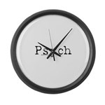 Psych Large Wall Clock