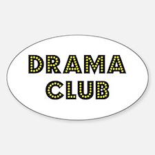 "Drama Club ""Label Me"" Oval Decal"