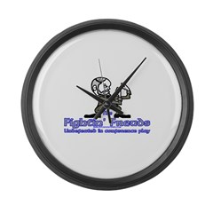 Mascot Undefeated Large Wall Clock