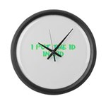 I Put The Id in Kid Large Wall Clock