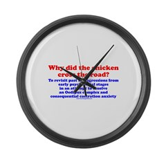 Chicken Oedipus Large Wall Clock