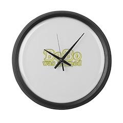Bobo Was Framed Large Wall Clock