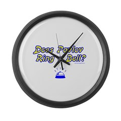 Does Pavlov Ring A Bell Large Wall Clock
